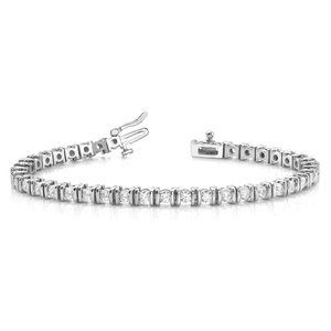 Jewelry - Bezel set 3.50 carats round brilliant cut diamonds
